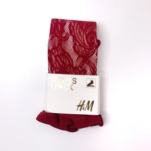 NWT H&M Maroon Tights